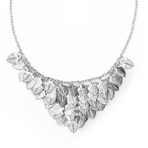 Falling Leaves Necklace - Silver
