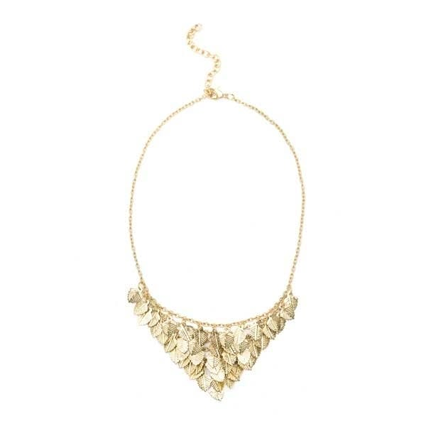 Falling Leaves Necklace - Gold