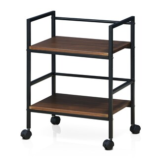 Furinno Modern Storage Cart with Casters, Dark Oak (3 options available)