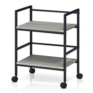 Furinno Modern Storage Cart with Casters, Dark Oak
