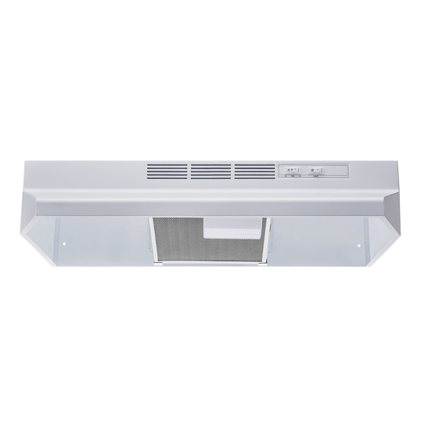"""Winflo O-W201V30W 30"""" Non-Ducted Under Cabinet Range Hood - White"""