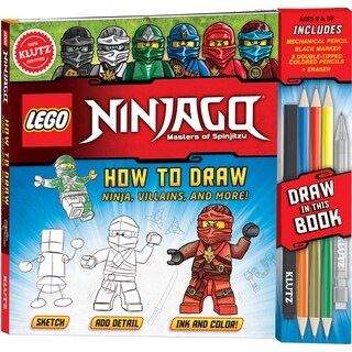 LEGO(R) Ninjago(R) How To Draw Ninja, Villians And More!