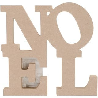 "MDF Stacked Noel 7.5""x9""