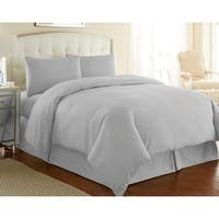 Ultra-Soft and Modern 3-Pc Duvet Cover set 24 Solid Colors