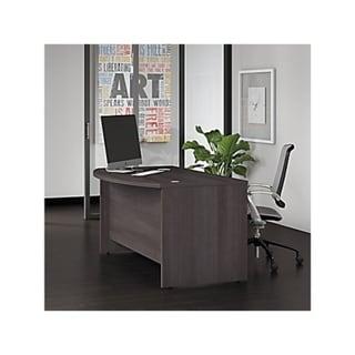 Bush Business Furniture Studio C 60W x 36D Bow Front Desk in Gray