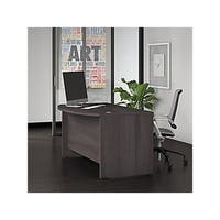 Bush Business Furniture Studio C 60W x 36D Bow Front Desk in Gray