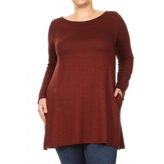 Women's Plus Size Solid Jersey Knit Top (More options available)