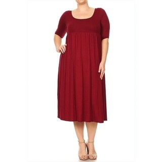 Women's Plus Size Solid Baby Doll Dress