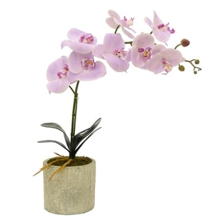 Three Hands Faux Orchid Flower Pot