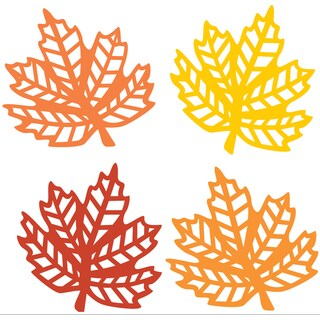 American Crafts Fall Die-Cut Shapes 40/Pkg