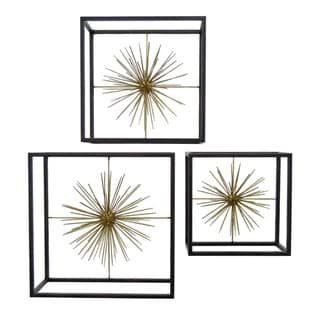 Three Hands Set Of Three Geometric Sunburst Wall Decor