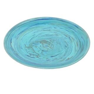 Three Hands Ceramic Plate Turquoise