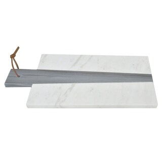 Three Hands White & Grey Marble Board