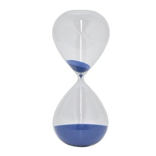 Three Hands Glass Sand Timer 2 Hours - Blue