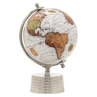 Three Hands Globe 8 Inches - Nickel