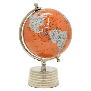 Three Hands Globe 8 Inches  - Nickel Base