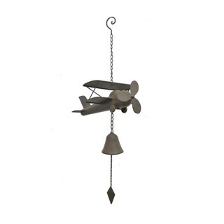 Three Hands Metal Airplane Wind Chime - Bro