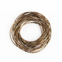 Metallic Bronze Metal Bangled Napkin Ring - set of 4 pcs