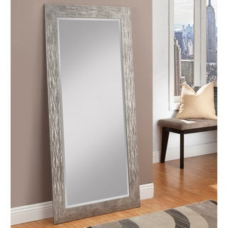 sandberg furniture hammered antique silver finish fulllength leaner mirror