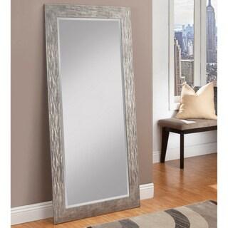 Sandberg Furniture Hammered Antique Silver Finish Full Length Leaner Mirror