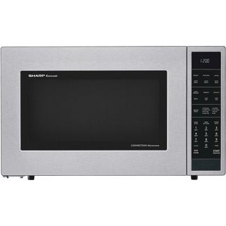Sharp 1.5 Cu. Ft. 900W Convection Microwave Oven, Stainless Steel