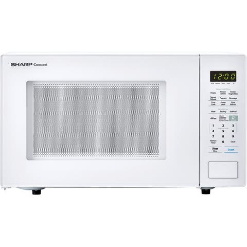 Sharp Carousel 1.4 Cu. Ft. 1000W Countertop Microwave Oven in White
