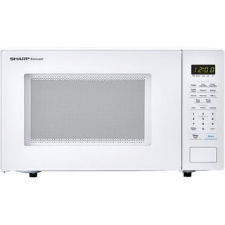 Sharp Carousel 1.1 Cu. Ft. 1000W Countertop Microwave Oven in White