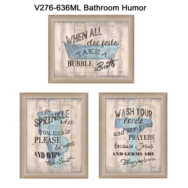 Shop Bathroom Humor Collection By Debbie Dewitt Printed Wall Art