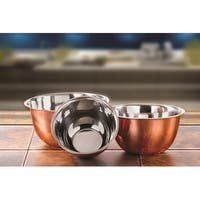 High Quality Stainless Steel Copper Plated Mixing Bowl 3 Pcs Bowls Set