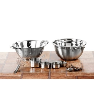 High Quality Stainless Steel  Preparation Set Mixing Bowl Colander