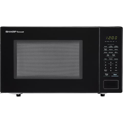 Sharp Carousel 1.1 Cu. Ft. 1000W Countertop Microwave Oven in Black