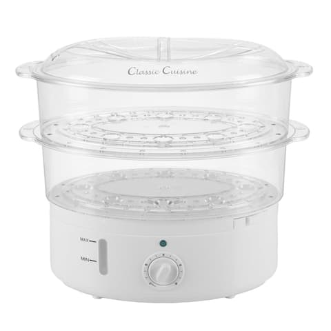 Vegetable Steamer Rice Cooker- 6.3 Quart Electric Steam Appliance with Timer by Classic Cuisine