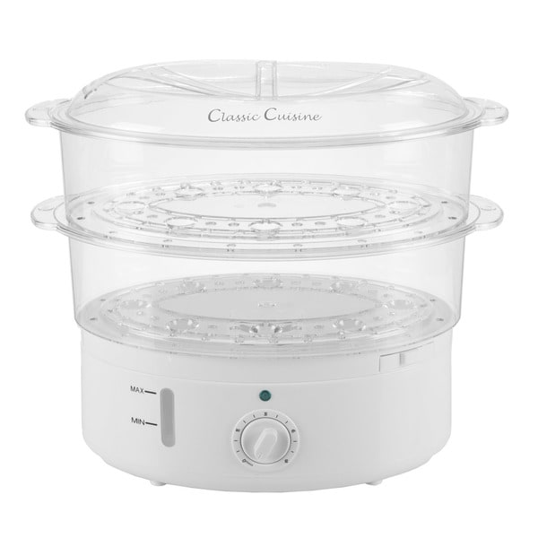 Vegetable Steamer Rice Cooker  6.3 Quart Electric Steam Appliance With  Timer By Classic Cuisine