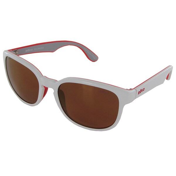 Revo Kash 1028 Unisex White-Coral-Grey Frame Open Road Lens Sunglasses. Opens flyout.