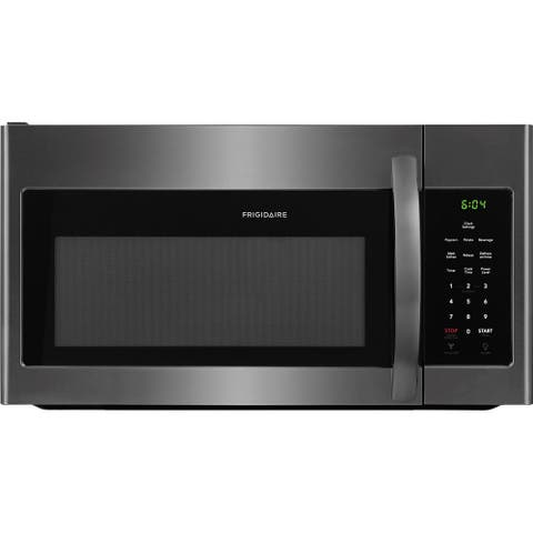 Frigidaire 1.6 Cu Ft Over-the-Range Black Stainless Microwave