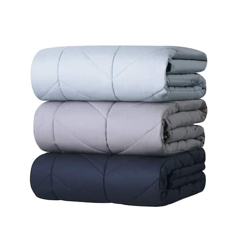 Liza Jane Chevron Cotton Luxe Down Alternative Blanket