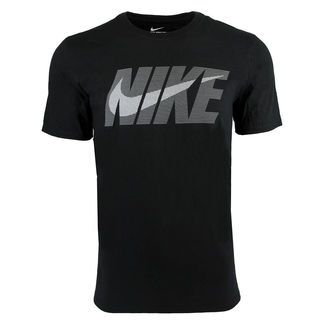 Nike Men's Cotton Swoosh Logo Graphic T-Shirt Black
