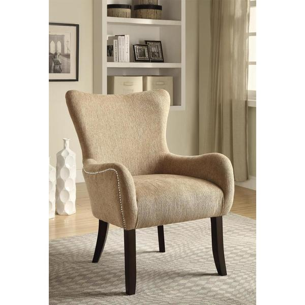 Charmant Iovita Faint Chenille Accent Chair