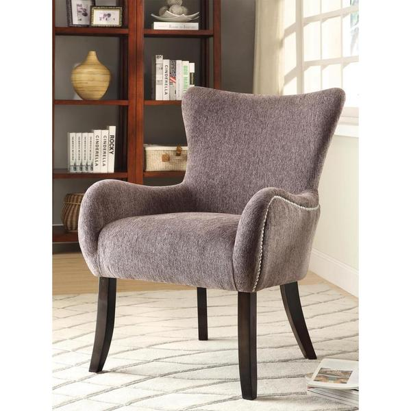 Wonderful Iovita Faint Chenille Accent Chair Free Shipping Today Overstock.com  24298547