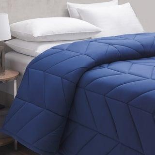 Liza Jane Chevron Down Alternative Blanket - Marine Blue