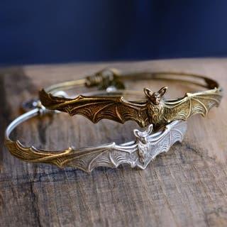 Elvira's Vampire Bat Bangle Bracelet|https://ak1.ostkcdn.com/images/products/18148265/P24298666.jpg?impolicy=medium