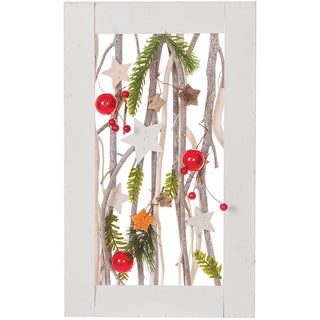"""Framed Christmas Branches 15.7"""""""