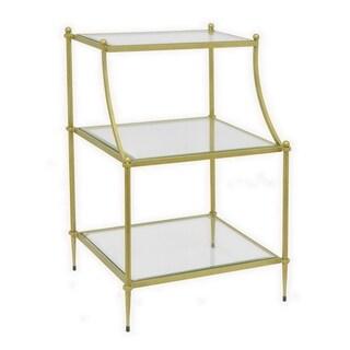 Three Hands Gold-tone Metal/Glass Rack