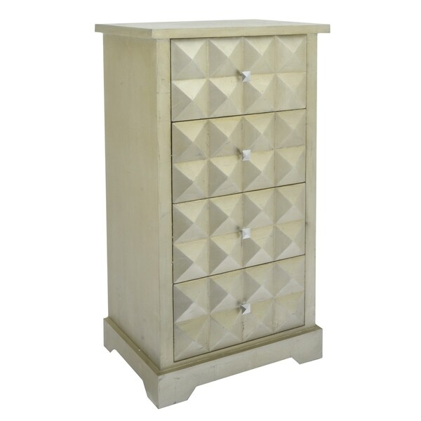 Three Hands Wood Gold Wood 4-drawer Cabinet