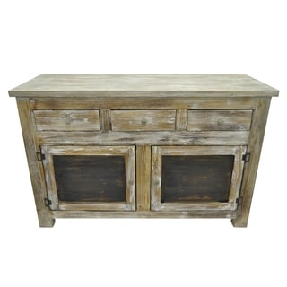 Three Hands Brown Wooden Cabinet