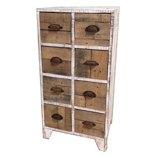 Three Hands White Wood Cabinet