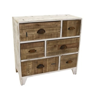Three Hands Blonde/Brown Wood Chest of Drawers