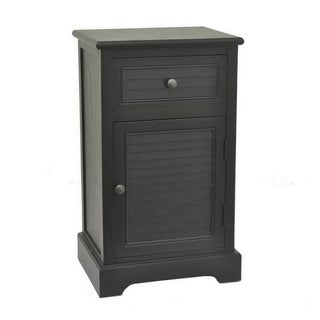 Three Hands Black Wood Cabinet