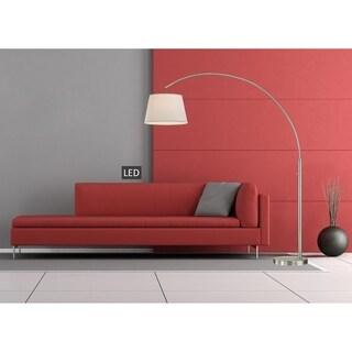 Artiva Usa Adelina Arched Brushed Steel Floor Lamp Free
