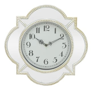Three Hands Wall Clock With Mirror Frame|https://ak1.ostkcdn.com/images/products/18148545/P24298977.jpg?impolicy=medium